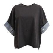 袖デニム 半袖プルオーバー 12800965-CHA