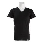 マイクロベーター 半袖Vネックシャツ 891Q4SK0002 BLK