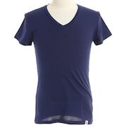 マイクロベーター 半袖Vネックシャツ 891Q4SK0002 NVY