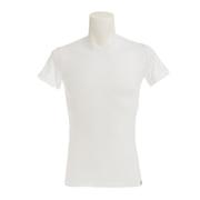 マイクロベーター 半袖クルーネックシャツ 891Q6SK2806WHT