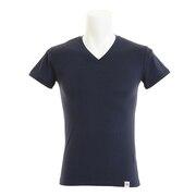 マイクロベーター 半袖 VネックTシャツ 891Q5SK2807NVY