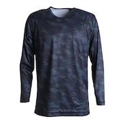 ウインドクロス 防風 長袖クルーシャツ カモ 891PA9ASC5001BLK
