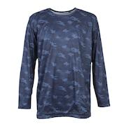 ウインドクロス 防風 長袖クルーシャツ カモ 891PA9ASC5001NVY