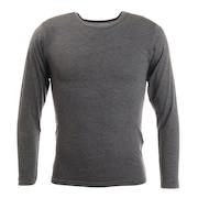 ヒートクロス 薄手長袖クルーネックシャツ 891PA9ES5050GRY