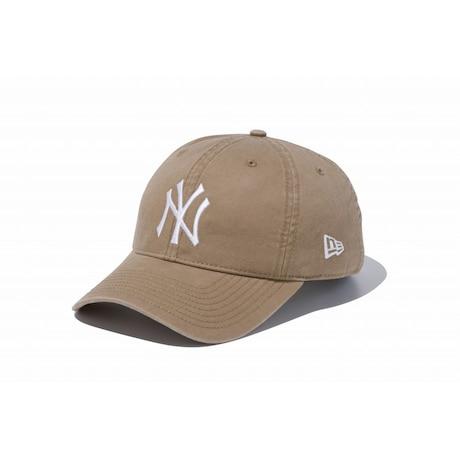 <2位>ニューエラ 9TWENTY Cloth Strap ウォッシュドコットン ニューヨーク・ヤンキース カーキ×ホワイト