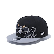 9FIFTY ONE PIECE ワンピース ドクロ 海賊旗 ドン!! キャップ 12541442
