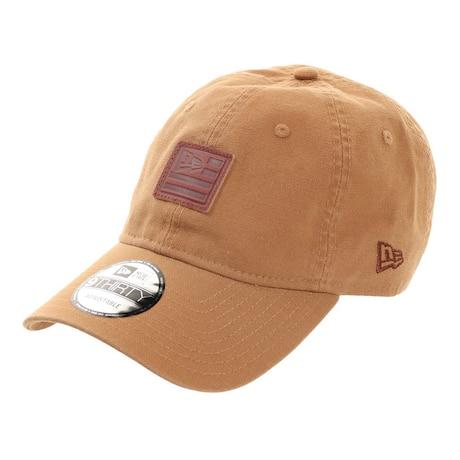 帽子 メンズ キャップ 9THIRTY ダックキャンバス レザーパッチ フラッグロゴキャップ 12654486 日よけ