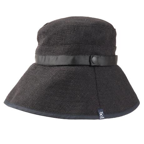 帽子 レディース ハット COMPACT STRAGE HAT HU20SST898004 BLK 大きめ 日よけ