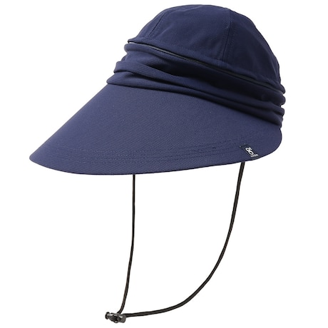 帽子 レディース サンバイザー 2WAY バイザー HU20SST898003 NVY 大きめ 日よけ