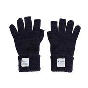 指無しニット手袋 664-1010 NVY