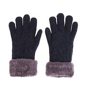 2重5指ケーブルニット手袋 515036 ネイビー