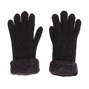2重5指ケーブルニット手袋 515036 ブラック