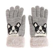 2重5指フレンチブルドッグ手袋 515043 グレー