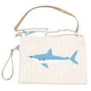サメ刺繍 クラッチバッグ 652-1041 オンライン価格