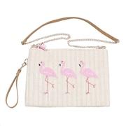 フラミンゴ刺繍 クラッチバッグ 652-1042 オンライン価格