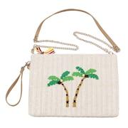 パームツリー刺繍 クラッチバッグ 652-1043 オンライン価格