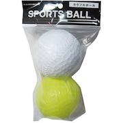ミスター カラー野球ボール WH/BL/YL 1363