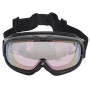 大型メガネ使用可 ゴーグル AX 888-WPK BK