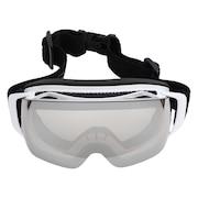 スキー ゴーグル メンズ 大型メガネ使用可ゴーグル AX899-WMD WTスノーゴーグル