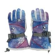 スノーグローブ キッズ ジュニア PEANUTS SNOOPY 5本指グローブ VSJG1004 BL 雪遊び 手袋 スノーボード