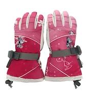 スノーグローブ キッズ ジュニア PEANUTS SNOOPY 5本指グローブ VSJG1004 PK 雪遊び 手袋 スノーボード