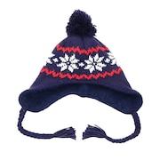 ニット帽 キッズ スキー ジュニア PEANUTS SNOOPY SNOW BONBON EAR COVER VSJB1003NV 雪遊び