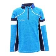 ジュニア ストレッチフリースジップTシャツ PSAG2LS80 HEBL