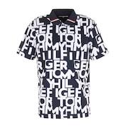 ロゴプリントポロシャツ THMA116-NVY