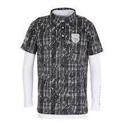 インナー付き半袖ニットボタンダウンシャツ CGMOJA04W-BK00