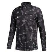ゴルフ ヒストリカルパターン 長袖ボタンダウンシャツ INS61-FS6875BK