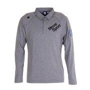 リサイクルポリエステルメランジストレッチフロッキープリントシャツ DGMSJB09 GY00
