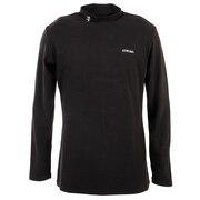 無地ハイネックシャツ ADMA8T7-BLK