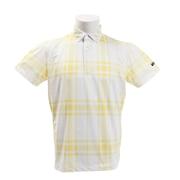 ゴルフウェア メンズ クールコア チェック 半袖ポロシャツ TSMC1926YW