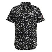 フラワープリント半袖シャツ 241-0134052-021