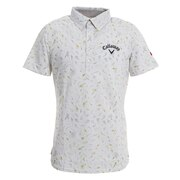 フラワープリント半袖シャツ 241-0134052-030