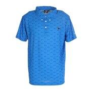 モノグラムプリントポロシャツ H20 CL5HTG60 BLU-