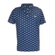 モノグラムプリントポロシャツ H20 CL5HTG60 NVY-