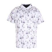 プリントポロシャツ 151-24343-004