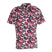 ゴルフ ポロシャツ 軽量プリントポロシャツ CL5KTG06 RED