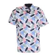 ゴルフ ポロシャツ 冷感ボタニカル柄ポロシャツ CL5KTG10 WHT