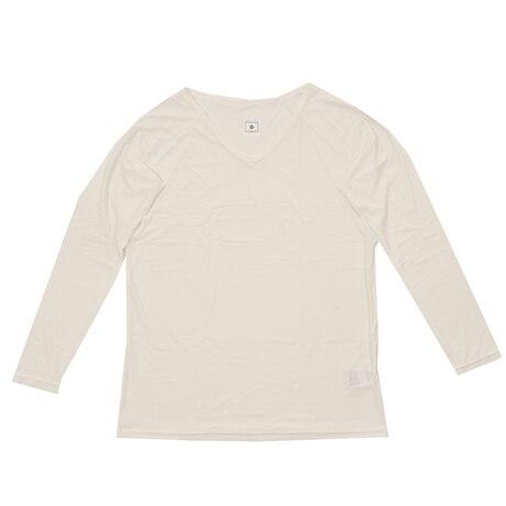 冷感 長袖Vネックシャツ 25152311