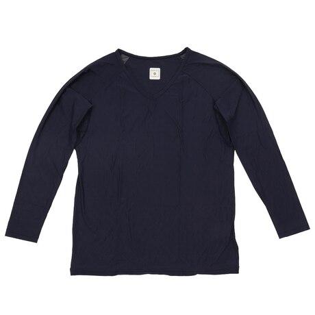 冷感 長袖Vネックシャツ 25152316