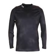 アイソチル フィッティド ロングスリーブモックネックシャツ ノベルティ 1364335 BLK/BLK/WHT GO