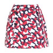 フラッグバックパネルスカート THLA132-RED