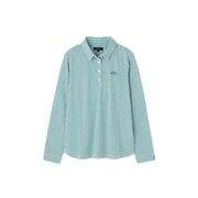 長袖ストライプシャツ 241-1133801-140