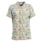 アフリカンアニマルプリント 半袖シャツ 002-22541-129
