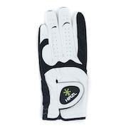 ゴルフ グローブ メンズ左手グローブ合成皮革 HYBRID-PLUS-ML-WHT