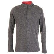 クライムウールストレッチロングスリーブジップシャツ TOMQJB60 BK