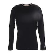 メリノ250ベースレイヤークルーネックシャツ SW61466 ブラック