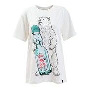 USA/C 天竺 ラムネクマ 半袖Tシャツ 331912 WHT